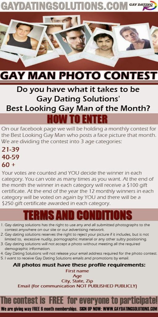 Gay Dating Solutions Photo Contest
