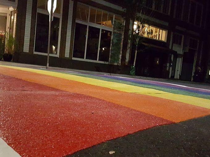 Rainbow-Colored Crosswalks Mark Seattle LGBTQ Pride image